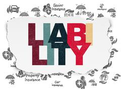 Insurance concept: Liability on Torn Paper background Stock Illustration