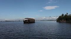Kerala Back water Lake 51 Stock Footage