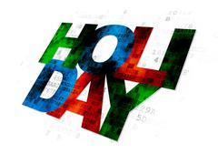 Stock Illustration of Travel concept: Holiday on Digital background