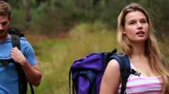 Happy young couple kiging together Stock Footage