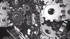 Chrome Gears Machine Looping - stock footage