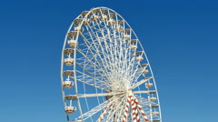 Huge Classical Fair Ferris Wheel In France Stock Footage