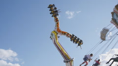 Carnival Ride - Daytime shot 50p full HD Stock Footage
