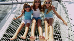 Female Children Outdoor Carefree Sailing Boat Childhood Tourism Health Insurance Stock Footage