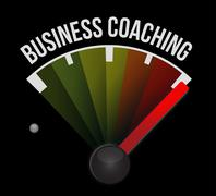 Stock Illustration of business coaching meter sign concept