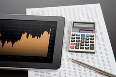 Stock Market Analyze - stock photo