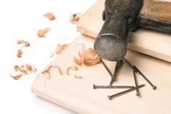 Handyman workplace - stock photo