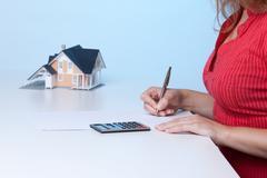 Real estate broker - stock photo