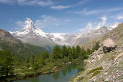 Matterhorn in Alps, Switzerland - stock photo