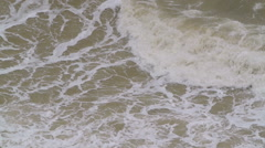 Waves at the sea shore on a stormy day Stock Footage