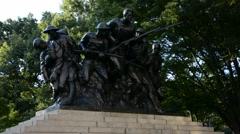World War I monument in Central Park in New York Stock Footage