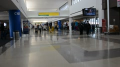 Newark airport in New Jersey - stock footage