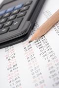 Business report analysis Stock Photos