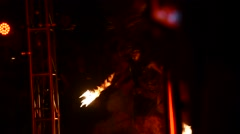 Stock Video Footage of Artists performing fire performance