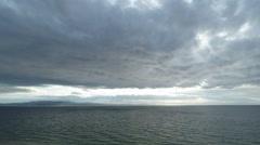 Dramatic Sky and Sea Horizon Time Lapse Stock Footage
