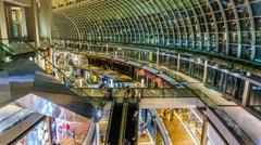 The Shoppe, Marina Bay Sands Singapore - Hyperlapse  Stock Footage