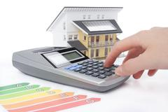 House Energy Efficiency Rating - stock photo
