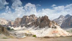 Dolomites, Lagazuio Gran - stock photo
