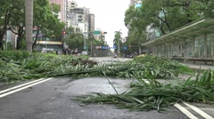 Road Damage After Tropical Storm Hits Taiwan, Typhoon Soudelor 4K-Dan Stock Footage