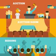 Stock Illustration of Auction Banners Set