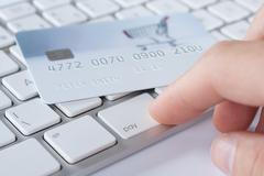 Electronic payment concept Stock Photos
