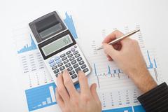Business report analysis - stock photo