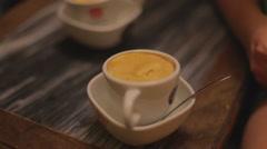 Macro - Hanoi egg coffee Stock Footage
