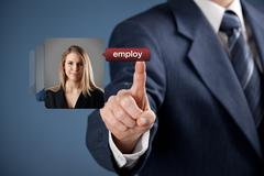 Human resources and gender equality - stock photo