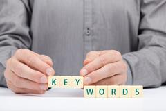 Keywords - stock photo
