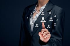 Human resources and CRM - stock photo