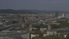 Zurich Skyline, Main Station, Primetower, Switzerlnad Stock Footage