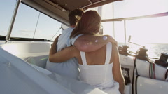 Luxury Outdoor Living Loving Young Caucasian Couple Travel Vacation Relaxation Stock Footage