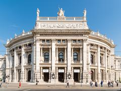 The Burgtheater (Imperial Court Theater) In Vienna - stock photo