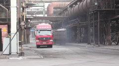 Factory trucks, tranportation, China Stock Footage