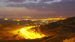 Time lapse of dawn breaking over Jordan. Cropped. Stock Footage