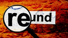 Magnifying glass on refund text - stock footage