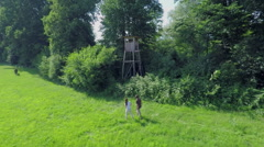 Walking in nature Stock Footage