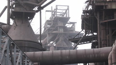 Chinese industry, steel factory, Baotou Stock Footage