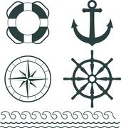 Nautical decoration vector Stock Illustration