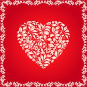 Floral heart Stock Illustration