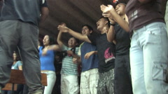 Teenagers in Peru attend a Christian Camp - stock footage