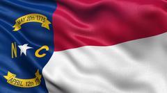 US state flag of North Carolina - stock photo