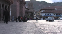 Stock Video Footage of Downtown Cuzco, Peru
