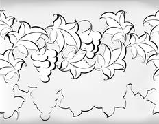Black and white pattern from vine. EPS10 vector illustration - stock illustration