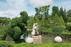 Sculptures in Nong Nooch Tropical Botanical Garden in Pattaya, Thailand. Stock Photos