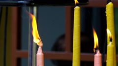 Burning candle Stock Footage