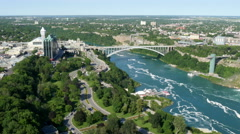 Rainbow bridge, Niagara falls 4K UHD - stock footage