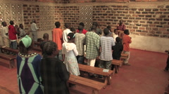 Traditional African Church in Kitwe, Zambia Stock Footage