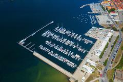 Dockage with yachts - stock photo