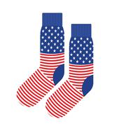Stock Illustration of USA Patriot socks. Clothing accessory is an American flag. Vector illustratio